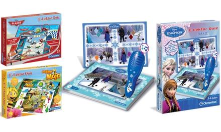 """Clementoni E-Lektor Quiz-Spiel für Kinder """"Die Biene Maja"""", """"Basic Frozen"""" oder """"Planes"""""""