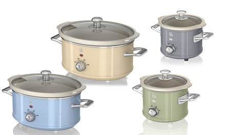Swan Retro Slow Cookers in Choice of Colour and Three Sizes