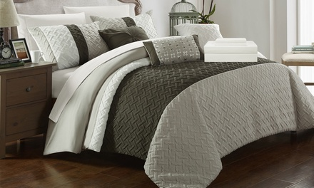 Agathe Color-Block Comforter Set (10- or 8-Piece)