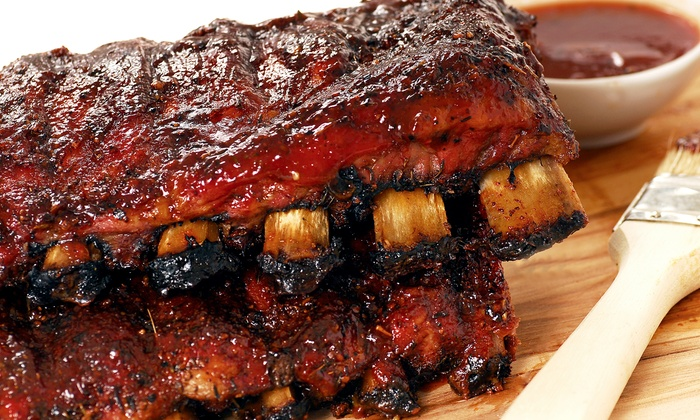 Dixie Catering - Kendall: Two Prepackaged Rib Racks or $13 for $20 Worth of Barbecue for Carryout or Delivery from Dixie Catering