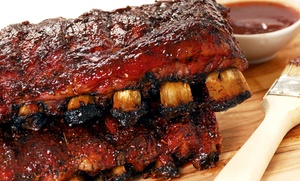 Dixie Catering: Two Prepackaged Rib Racks or $11 for $20 Worth of Barbecue for Carryout or Delivery from Dixie Catering