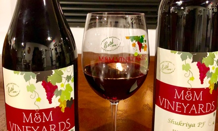 Wine Tasting for One, Two, or Four at M&M Vineyards (Up to 60% Off)
