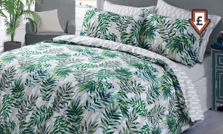 Easy Care Reversible Tropical Duvet Cover Sets