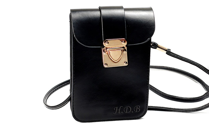 MonogramHub: Vintage Leather Bag with Three Initials, First Name, or Monogram from MonogramHub.com (Up to 88% Off)