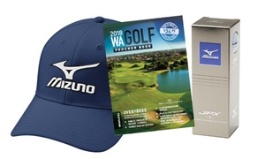 Perth Golf Network: $49 for WA Golf Voucher Booklet, Mizuno Hat and Set of Three Balls from Perth Golf Network (Up to $85 Value)