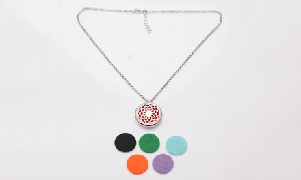Aromatherapy Essential Oil Diffuser Necklace: One $14 or Two $24