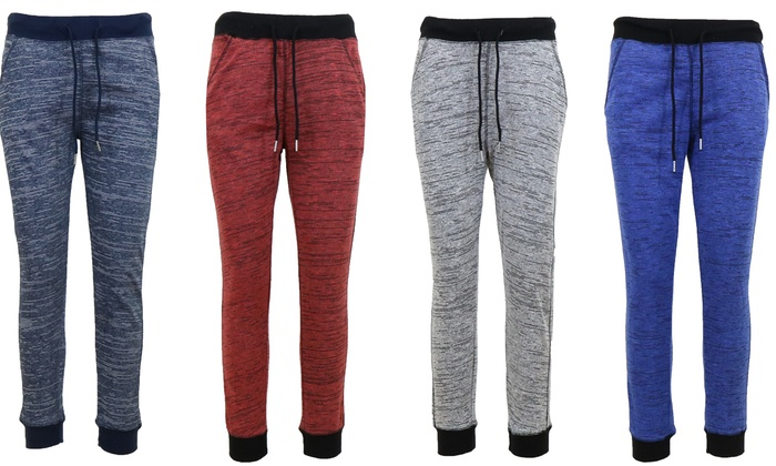 Women's Marled French-Terry Joggers in Regular and Plus Sizes