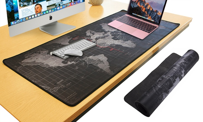 World map mouse mat pad groupon goods world map mouse mat pad gumiabroncs Image collections