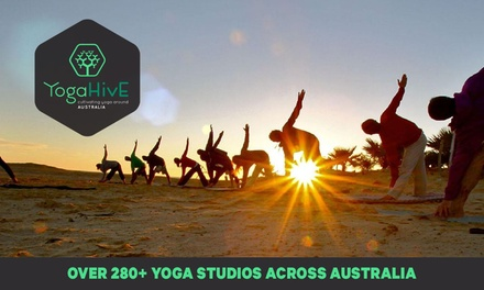 Yoga: One ($6.50), Two ($12), Five ($30) or Ten Classes ($50) at YogaHive, Multiple Locations (Up to $100 Value)