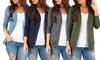 Women's Snap Button Cardigan. Plus Sizes Available.
