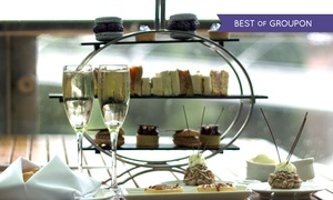 The River Bar & Restaurant at The Lowry Hotel: Afternoon Tea for Two or Four with a Glass of Prosecco Each at The River Bar & Restaurant at The 5* Lowry Hotel(34% Off)