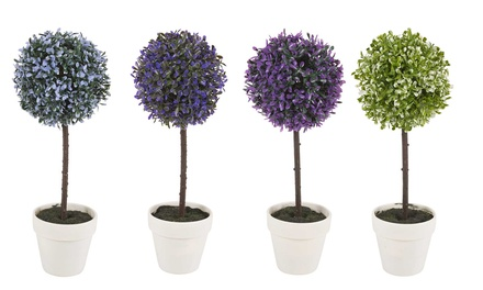One or Two Decorative Artificial Ball Plants