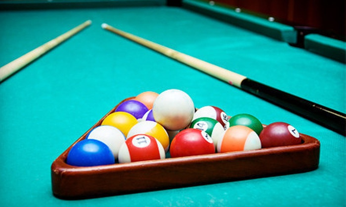 Fast Eddie's Sports Tavern and Social Clubs - Multiple Locations: Unlimited Pool for Two or Four with Food at Fast Eddie's Sports Tavern and Social Clubs (Up to 53% Off)