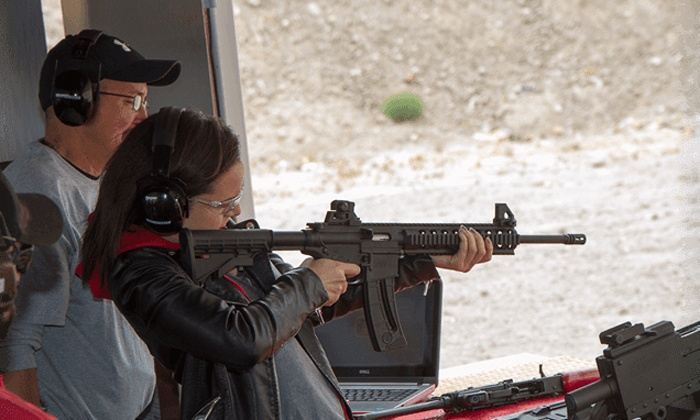 Shoot Las Vegas - Shoot Las Vegas: Six-Gun Shooting Package with Limo Transportation for Two, Four, or Six at Shoot Las Vegas (Up to 36% Off)