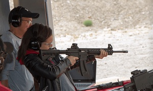 Shoot Las Vegas: Six-Gun Shooting Package with Limo Transportation for Two, Four, or Six at Shoot Las Vegas (Up to 36% Off)