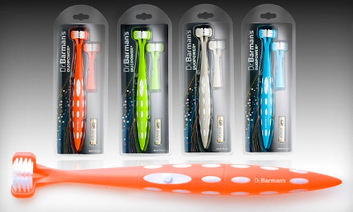 Dr. Barman's USA: Two or Four Duopower Sonic Toothbrushes with Shipping from Dr. Barman's USA (Up to 64% Off)