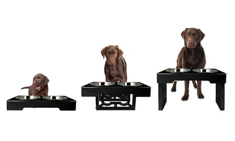 Barking Bistro 3-Stage Elevated Feeder for Dogs 821d4ca4-1328-11e7-b447-002590604002