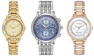 Citizen Women's Eco-Drive Diamond Watches (Manufacturer Refurbished)