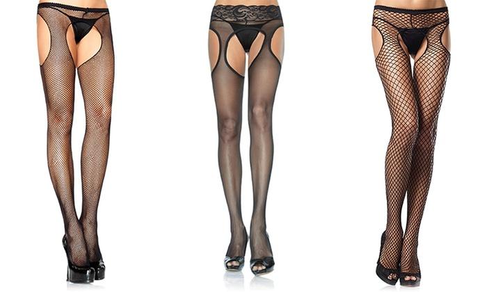 3bb630b75 Leg Avenue Women s Suspender Hosiery. Plus Sizes Available.