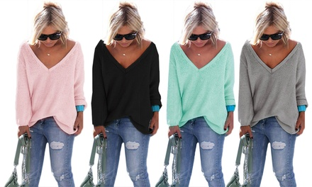 Ella Women's VNeck Sweater