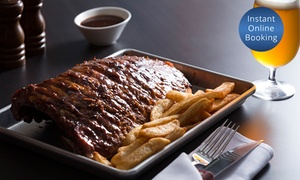The BoVine Brasserie: Full Rack of Ribs, Chips, Salad and Craft Beer for 2 ($55) or 4 People ($109) at The BoVine Brasserie (Up to $180 Value)