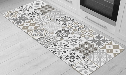 Tapis de cuisine carreau ciment