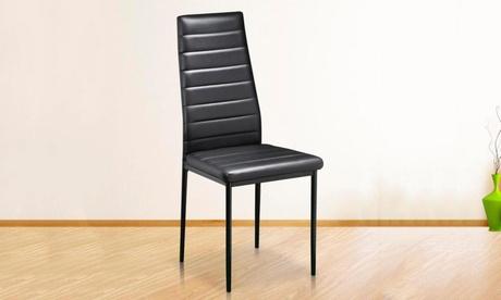 Set di 2 o 4 sedie imbottite in pelle ecologica