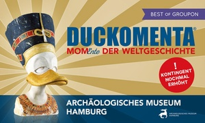 """Archäologisches Museum Hamburg: 2 Tickets für """"DUCKOMENTA – MomEnte der Weltgeschichte"""" im Archäologischen Museum Hamburg (bis zu 50% sparen)"""