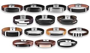 1 ou 2 bracelets Akzent en cuir véritable