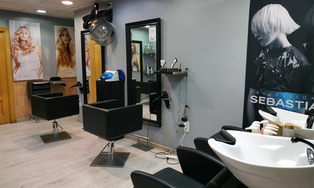 Sesión de peluquería completa con opción a tratamientos a elegir desde 4,95 € en Prada Peluqueros