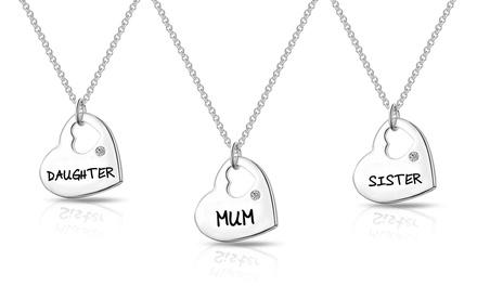 1, 2 o 3 collares familiares Philip Jones adornado con cristales Swarovski®