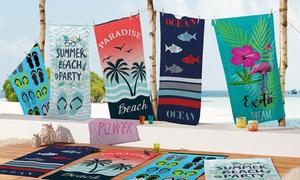 Serviettes de plage imprimées