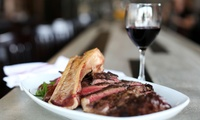 Two-Course Steak Meal with Glass of Wine for Two or Four at The Smoker Inn (Up to 53% Off)