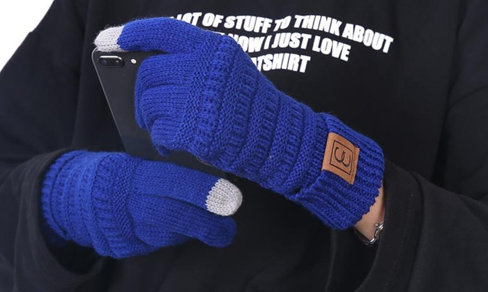 e7416d6afcc64 Up To 65% Off on Women s Knit Touchscreen Gloves