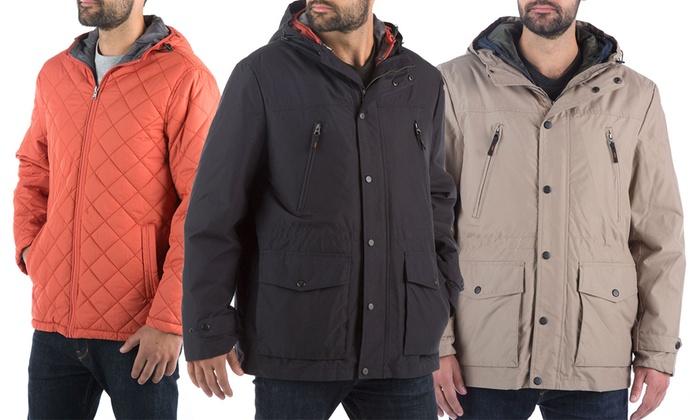 London Fog Men's 3-in-1 Hooded Anorak Jacket