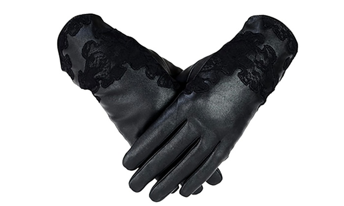 Groupon Goods: Pair of Lace Leather Gloves (Delivery Included)