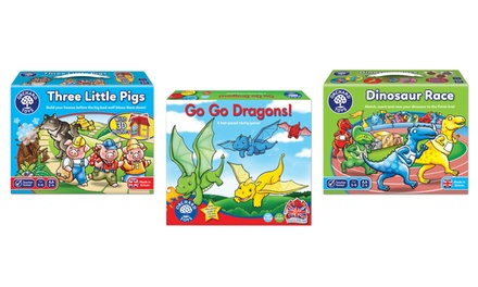 Orchard Toys Go Go Dragons, Dinosaur Race or Three Little Pigs Board Game