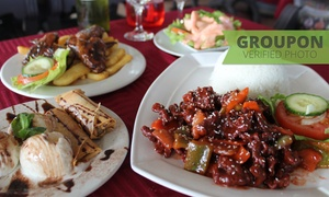 Golden Fish: Two-Course Meal with a Drink Each from R219 for Two at Golden Fish (Up to 42% Off)