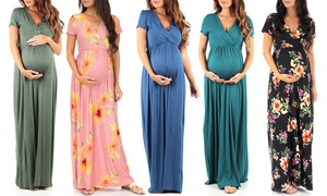 Women's Short Sleeve Maternity Dress