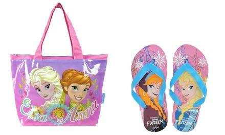 Borsa da mare con ciabatte Frozen Disney disponibili in diverse taglie