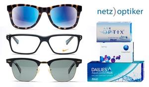 netzoptiker: Wertgutschein über 40, 70 oder 100 € anrechenbar auf Brillen, Sonnenbrillen, Linsen und Pflegemittel von netzoptiker.de