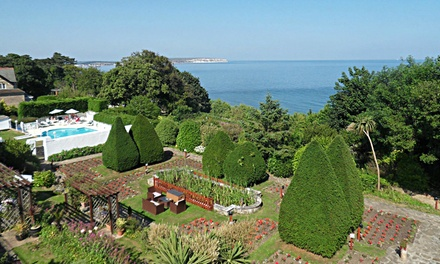 Isle of Wight: 1, 2 or 3 Nights for Two with Breakfast, Dinner, Ferry and Leisure Access at Luccombe Hall Hotel