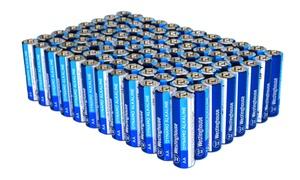 Westinghouse AA or AAA Alkaline Batteries (96-Pack)