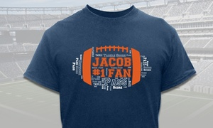 Football Custom T-shirts From Giftsforyounow.com (up To 57% Off)