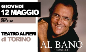 On Air srl: Al Bano in concerto al Teatro Alfieri di Torino il 12 maggio h. 21 (sconto 40%)