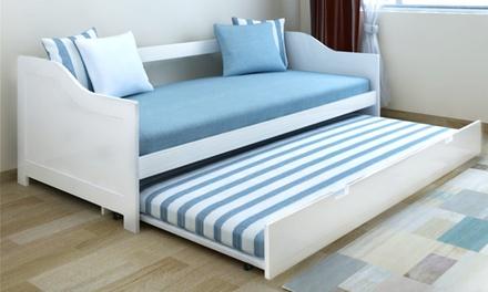 Canapé lit de jour en bois de pin 200 x 90 cm, livraison offerte