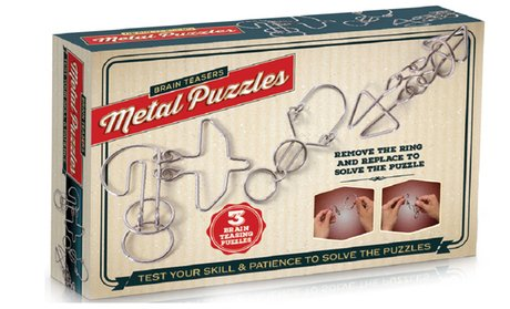 Brain Teasers Metal Puzzles (3-Pack)