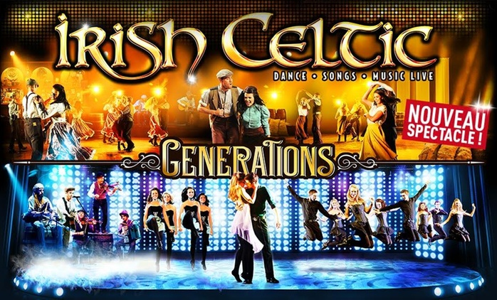"1 place pour le spectacle ""Irish Celtic"" à 32 €"
