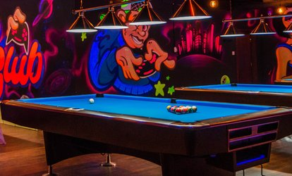 One-Hour Billiards or PlayStation for Two, or Four Hours for Four at Glow Club (Up to 56% Off)