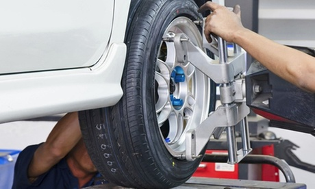 $55.89 for Wheel Alignment, Tire Rotation, Balance, and Nitrogen Fill at RNR Tire Express ($159.99 Value)